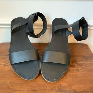 MADEWELL NWOT Boardwalk leather ankle strap sandal